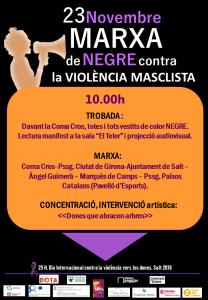Marxa de Negre contra la VIOLÈNCIA MASCLISTA