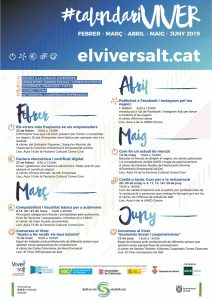 Calendari El Viver de Salt Febrer-Juny 2019 @ Viver d'Empreses Creativoculturals de Salt