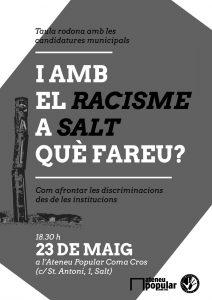 I amb el Racisme a Salt què fareu. Taula Rodona @ Ateneu Popular Coma Cros