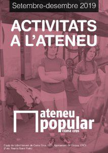 Programa activitats Octubre-Desembre 2019 de l'Ateneu @ Ateneu Popular Coma Cros