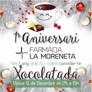 1 Aniversari de la Farmàcia La Moreneta