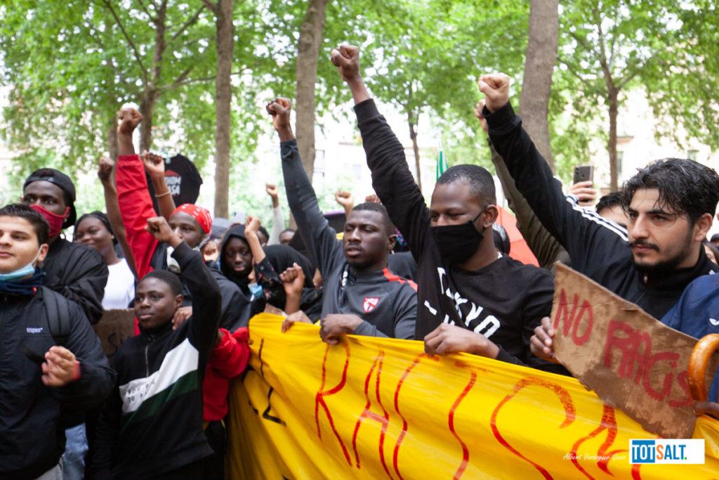 Manifestació Antiracista Salt Girona