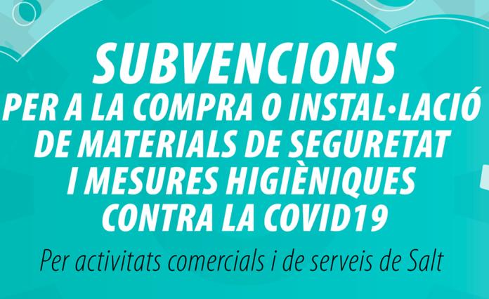 Subvencions per a la compra o instal·lació de materials de seguretat i mesures higièniques contra la Covid-19